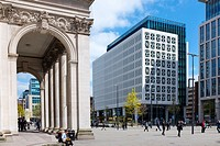 No.2 St Peter's Square building with columns of Central Library in Manchester UK