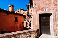 Houses in the medieval village of Albarracin, Teruel, Spain.