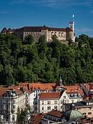 Slovenia Ljubljana Fortress Castel.
