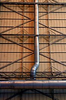 Air conditioning pipes, Atocha railway station, Madrid, Spain