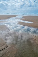 Berria beach, Marismas de Santoña, Victoria y Joyel Natural Park, Santoña, Cantabrian Sea, Cantabria, Spain, Europe.
