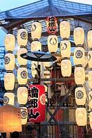 Japan, Kyoto, Gion Matsuri, festival, float, paper lanterns,.