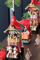 Japan, Kyoto, Gion Matsuri, festival, float models,.