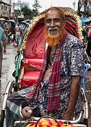 Rickshaw driver, Dhaka, Bangladesh.