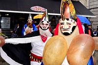 Pantallas of Xinzo, mask of the Entroido or carnival in Xinzo de Limia, Orense, Spain.