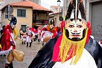 Pantalla of Xinzo, mask of the Entroido or carnival in Xinzo de Limia, Orense, Spain.