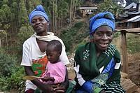 Rwanda, Gisakura Village.