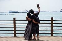 Singapore, Sentosa Island, Palawan Beach, Sentosa.