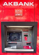 Turkish ATM Machine, Istanbul, Turkey.