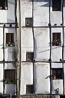 Half-timbered facade. Soto de Cameros. Sierra de Cameros. La Rioja Province. Spain.