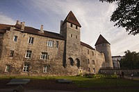 Ancient city walls and towers in the old town,Tallinn, Estonia, Baltic States, Europe.