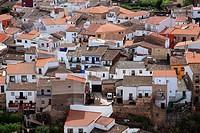 View of village Montánchez. Cáceres.