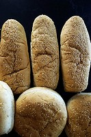 Bread buns for hamburgers or hot dogs.