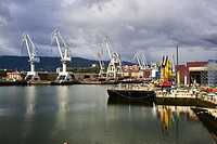 Industrial Zone in the Nervion River, Biscay, Basque Country, Euskadi, Euskal Herria, Spain, Europe