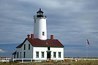 Dungeness Lighthouse, Dungeness National Wildlife Refuge, Washington.