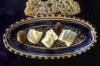 Traditional Greek Tiromalama Goat Cheese from Crete.