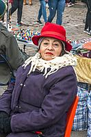 A female stallholder at the Mauerpark Sunday market, Berlin.