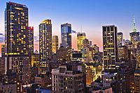 Midtown skyline, Manhattan, New York City, New York, USA.
