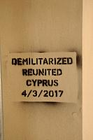 Demilitarized zone and reunited in Cyprus, Nicosia, 4 march 2017