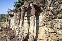 Terrace of the Elephants, Angkor Thom, Angkor Archaeological Park, Siem Reap, Cambodia.