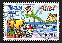 Spanish postage stamp.