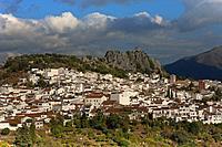 Panoramic view, Gaucin, Malaga province, Region of Andalusia, Spain, Europe.