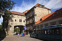View to the Great Coastal Gate and The Estonian Maritime Museum in the old town of Tallinn, Estonia, Baltic State, Europe.