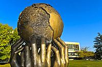 Sculpture Thoughts and Desires by Ali Ibadullayev and Salhab Mammadov, donation of the Republic of Azerbaijan to the United Nations, Ariana Park, Pala...