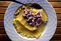 Traditional Greek Fava-Yellow Split Pea Dip.