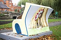 Peter and Jane play with us based Book bench located in Queens Park Gardens Loughborough Leicestershire. Loogabarooga Book Benches are situated throug...