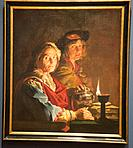 ´ an old woman and a youth by lamplight´ by Matthias Stom in National Museum in Copenhagen, Denmark