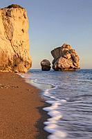 Petra tou Romiou, Aphrodite's Rock, Paphos, Cyprus.