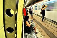 Subway station. Barcelona, Catalonia, Spain