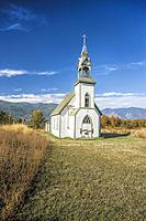 An old abandoned church just south of Creston British Columbia.