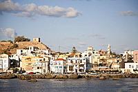 Paleohora village and Venetian Castle, Crete island, Greece, Europe.