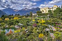 Gardens of Trauttmansdorff Castle, Merano, South Tirol, Italy, Europe.