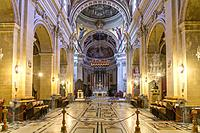 Cathedral of the Assumption interior, Cittadella or Citadel, Victoria, Gozo, Malta.