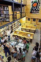 Library, Fundació Pilar i Joan Miró, Palma, Mallorca, Balearic islands, Spain.