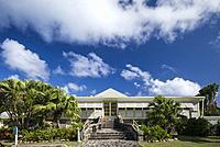 St. Kitts and Nevis, Nevis, Nisbet Beach, Nisbet Plantation Inn, former sugar plantation.