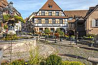 village Barr, on the Wine Route of Alsace, France.
