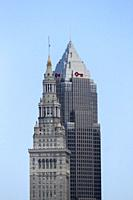 Key Tower, completed in 1991 (right) and Terminal Tower, completed in 1930 (left) are the tallest and second tallest buildings, respectively, in Cleve...