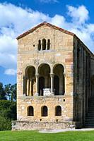 The church of St Mary at Mount Naranco, Oviedo, Asturias, Spain, Europe.