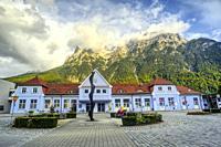 railway station, Mittenwald, Bavaria, Germany.