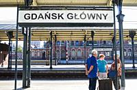 Railway station, Glowny Gdansk, Gdansk, Poland.