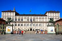 Palazzo Reale in the Piazza Castello in Turin. Italy.