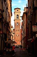 Tower of Duomo di San Giovanni Battista in Turín. Italy.