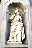 Francesco Petrarca statue in the Piazzale degli Uffizi - Florence, Italy.