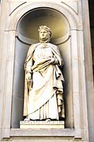 Giovanni Boccaccio statue in the Piazzale degli Uffizi - Florence, Italy.