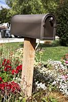 Letter box in a garden on Salinas. California, USA