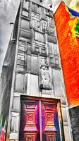 Very tall thin narrow building, Toronto, Ontario, Canada